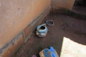 The Water Project: Tholmossor, Amputee Camp -  Improvized Handwashing Station