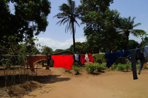 The Water Project: Lungi, Suctarr, 10 Khalil Lane -  Clothes Hanging To Dry