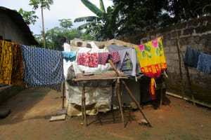 The Water Project: Kasongha, 8 BB Kamara Street -  Clothes Out To Dry