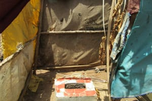 The Water Project: Lungi, Suctarr, 10 Khalil Lane -  Latrine With Makeshift Sides