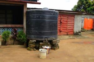 The Water Project: Kasongha, 8 BB Kamara Street -  Rain Water Storage Unit At A Household