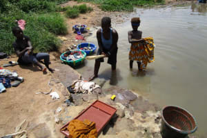 The Water Project: Lungi, Suctarr, 10 Khalil Lane -  Washing Clothes At The Local River