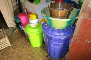 The Water Project: Lungi, Suctarr, 10 Khalil Lane -  Water Storage In The House