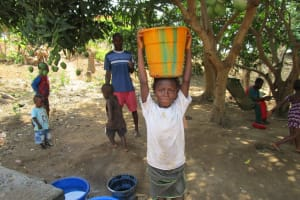 The Water Project: Targrin Health Post -  About To Take Water Home