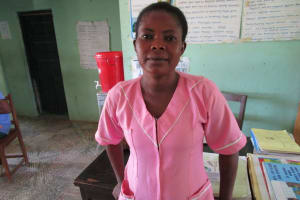 The Water Project: Targrin Health Post -  Nurse Isha Bangura