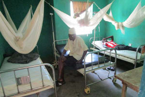 The Water Project: Targrin Health Post -  Patients In The Health Center