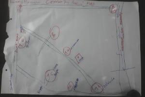 The Water Project: Karagalya Kawanga Community -  Sketch Map Of The Community Social Map Of Karagralya