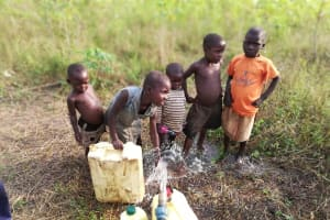 The Water Project: Alimugonza Community A -  Children Collect Water
