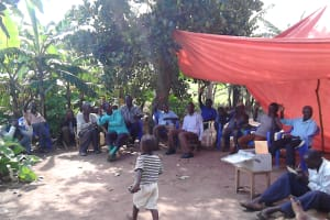 The Water Project: Alimugonza Community A -  Community Training