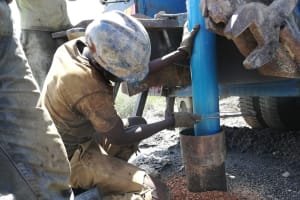 The Water Project: Alimugonza Community A -  Preparing To Drill