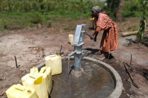 The Water Project: Alimugonza Community A -  Pumping Water