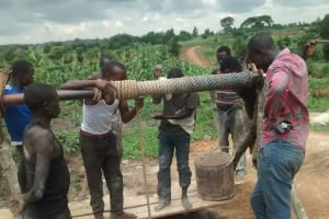 The Water Project: Alimugonza Community A -  The Construction Team
