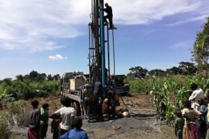 The Water Project: Alimugonza Community A -  The Drill Rig