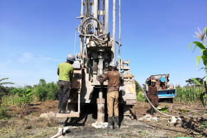 The Water Project: Alimugonza Community A -  The Drill Team And Rig