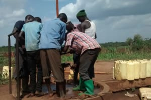 The Water Project: Katugo Community -  Construction