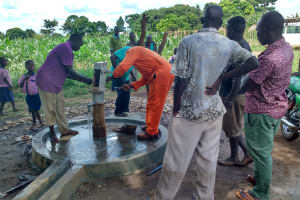 The Water Project: Kyamudikya Community A -  Well Rehab Nearly Done