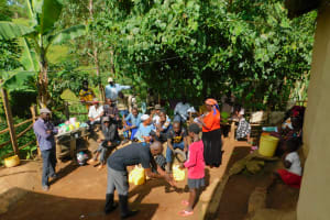 The Water Project: Samisbei Community, Isaac Rutoh Spring -  Handwashing Training