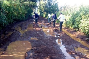 The Water Project: Immaculate Heart Secondary School -  Poor Roads Leading To School