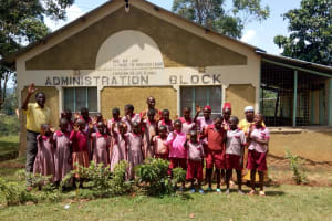 The Water Project: Ivumbu Primary School -  Students And Teachers Pose