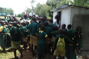 The Water Project: Imbale Primary School -  Latrine Care Training