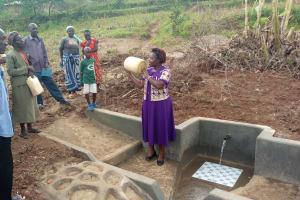 The Water Project: Shirugu Community, Jeremiah Mashele Spring -  Spring Care Training
