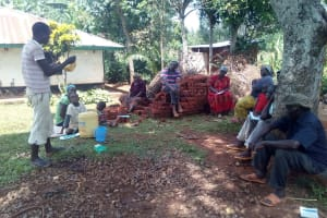 The Water Project: Asimuli Community, John Omusembi Spring -  Leaky Tin Training