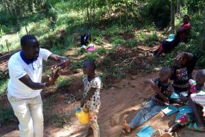 The Water Project: Chepnonochi Community, Chepnonochi Spring -  Handwashing Training