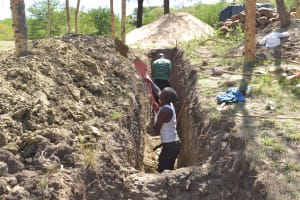 The Water Project: Kithumba Community B -  Trenching