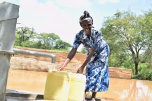 The Water Project: Masaani Community A -  Flowing Water