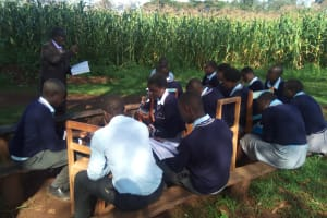 The Water Project: Immaculate Heart Secondary School -  Outside Lesson