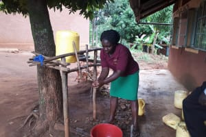 The Water Project: Kitumba Primary School -  Washing Hands