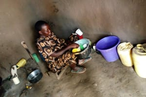 The Water Project: Burachu B Community, Namukhuvichi Spring -  Water Storage In Kitchen