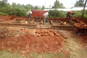 The Water Project: Shitaho Community School -  Latrine Construction