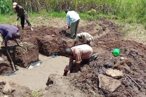 The Water Project: Shirugu Community, Jeremiah Mashele Spring -  Spring Excavation