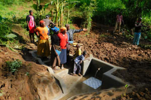 The Water Project: Koitabut Community, Henry Kichwen Spring -  Spring Care Training