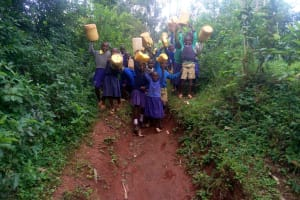 The Water Project: Essongolo Primary School -  Walking To The Spring