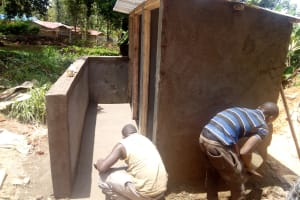 The Water Project: Imbale Primary School -  Latrine Construction