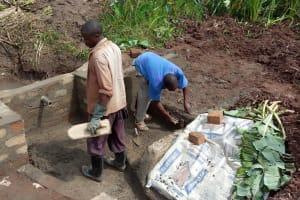 The Water Project: Shirugu Community, Jeremiah Mashele Spring -  Spring Construction