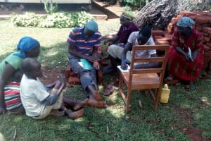 The Water Project: Asimuli Community, John Omusembi Spring -  Group Discussion