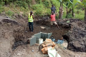 The Water Project: Emasera Community, Visenda Spring -  Spring Construction