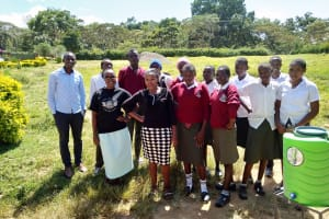 The Water Project: Kaimosi Demonstration Secondary School -  Handwashing Training