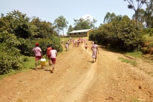 The Water Project: Ivumbu Primary School -  Taking Water Back To The School