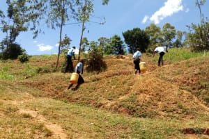 The Water Project: Hombala Secondary School -  Carrying Water