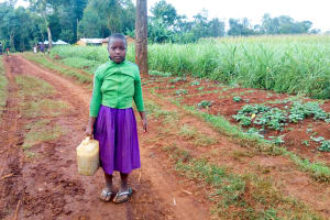 The Water Project: Munyanza Primary School -  Girl With Her Jerrycan