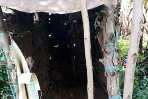 The Water Project: Burachu B Community, Namukhuvichi Spring -  Sample Latrine