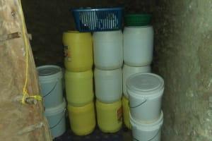 The Water Project: Shihungu Community, Shihungu Spring -  Water Storage