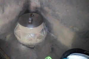The Water Project: Emukangu Community, Okhaso Spring -  Water Storage In Kitchen