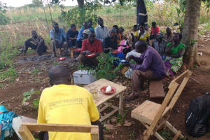 The Water Project: Katugo Community B -  Sharing A Meal During Training