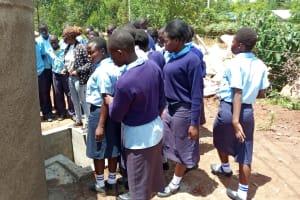 The Water Project: Gidagadi Secondary School -  Tank Care Training