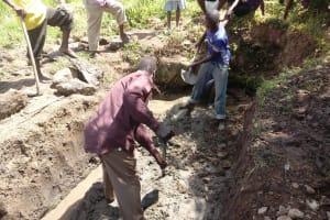The Water Project: Shirugu Community, Shapaya Mavonga Spring -  Excavation